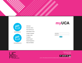 myUCA-Login-page