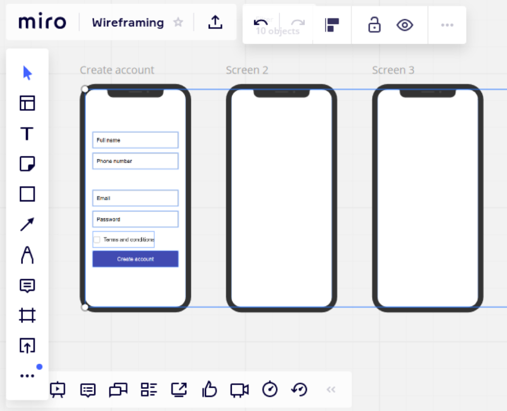 Image showing a prototyping flow for mobile devices